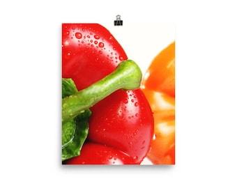 Two Peppers Kitchen Wall Art, Kitchen Decor, Kitchen Wall Print, Southwestern Wall Art, Mexican Restaurant Decor, Chile Pepper Art Print