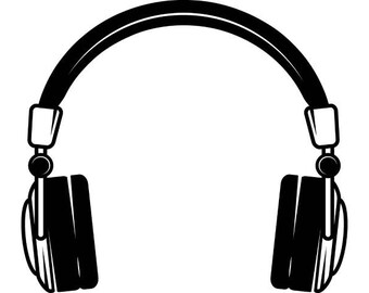Headphones #2 Music Sound Wave Listening Wireless Bluetooth .SVG .EPS .PNG Instant Digital Clipart Vector Cricut Cut Cutting Download File