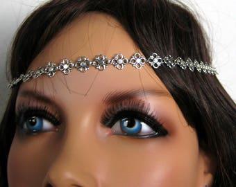 Silver metal N3332 headband headband