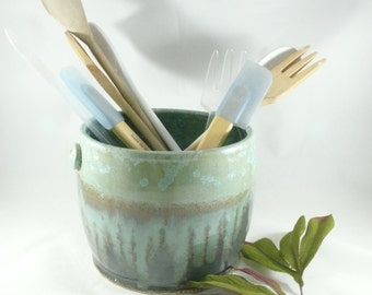 Ceramic kitchen utensil holder Wine Cooler Wine Chiller Ice Bucket Wine Bucket 9th Anniversary Gift Ceramic Planter Pot Ceramics and Pottery