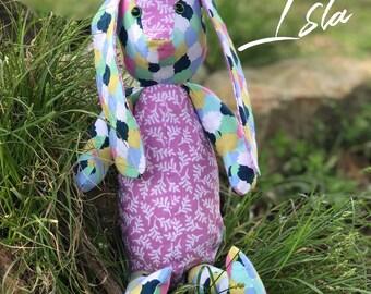 Handmade, one-of-a-kind bunny.
