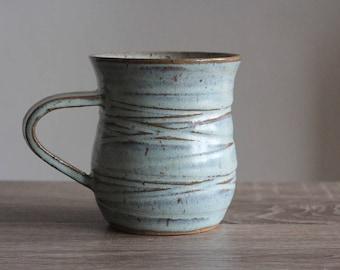 Ceramic Mug, Coffee Mug, Blue Ceramic Mug, Ceramic Mugs, Gift For Her, Blue Stoneware, Blue Mug, Blue Pottery Mug, Handmade, Gift For Mom