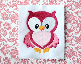 Owl Embroidery Design, INSTANT DIGITAL DOWNLOAD, Woodland Animals for Machine Embroidery 4x4