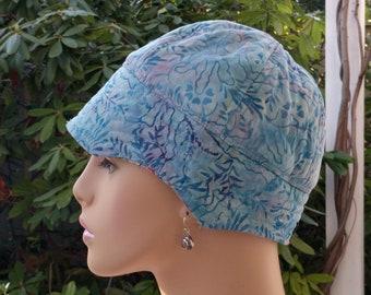 Chemo Hat Soft Cancer Cap Alopecia Hat Reversible  Small/Medium