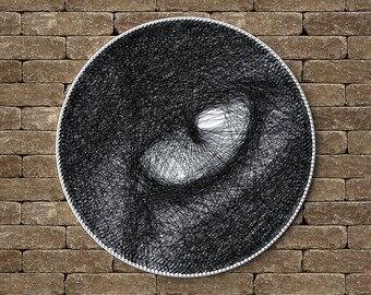 Cat eye, Cat's eye, Pet, Picture of thread, Cat Portrait, Thread Art, Birthday Gift, String Artwork, Home Decor, Unique Gift, Wall decor