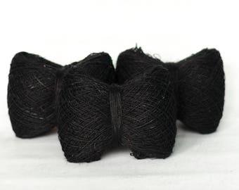 Hemp yarn in Black color
