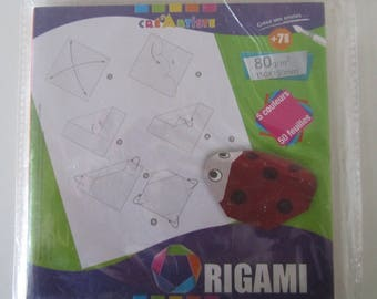 Bag of 50 sheets of paper for origami - 5 colors - 150 x 150 cm