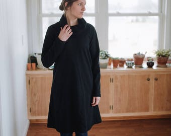 Sweatshirt Fleece Dress Women's Clothing Made in the USA - Snow