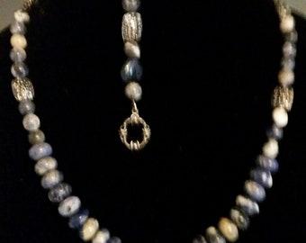 Sodalite necklace and bracelet