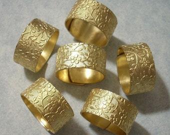100 Floral Ring Blanks