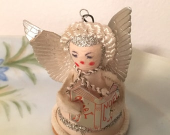 Vintage Christmas Angel with Song Book Ornament Japan