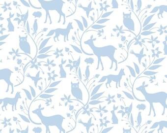 Blend Fabrics - Born Wild by Ana Davis - Woodland Creatures Blue
