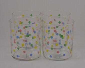 Houze Glass Pastel Polkadot Drinking Glass Set