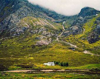 Scotland Photo, Mountain Print, Green Print, Travel Photo, Glencoe Photo, Landscape Photo