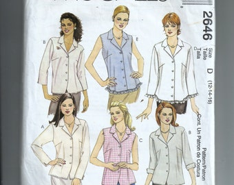 McCall's Misses' Tops Pattern 2646