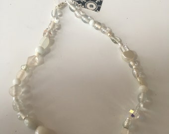 Mixed Bead White Necklace