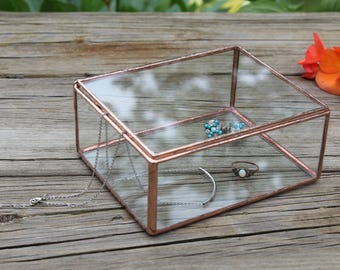 Copper jewelry box Etsy