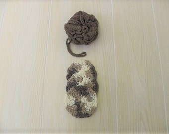 Crocheted Shower Loofah and Facial Scrubbies