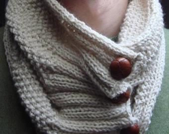 Moss stitch cowl PDF knitting pattern Cowl pattern Knit cowl Neckwarmer