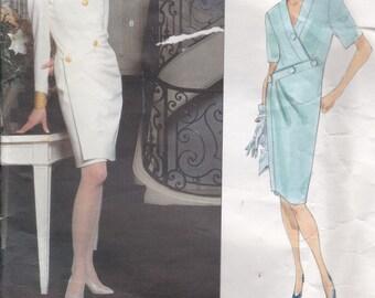 Vogue Paris Original Pattern - Givenchy 2661 Misses Dress Size 8-12 Factory folded and complete