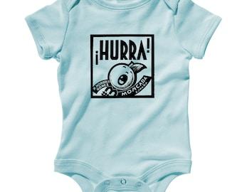 Baby Hurra Romper - Infant One Piece - NB 6m 12m 18m 24m - Vintage Baby - 3 Colors