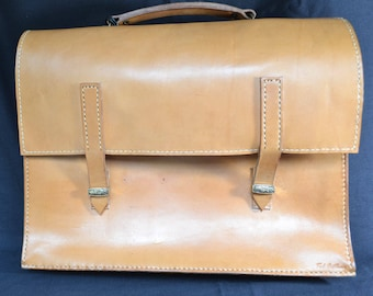 vintage leather portfolio attache briefcase laptop case Ted Arthur custom monogrammed/Offered by poshparagons for you or give as a gift! ! !