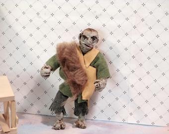 Miniature dollhouse doll - Rock troll