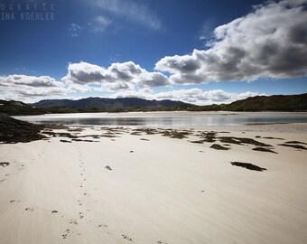 BEACH photography print,  Scotland sea landscape, 8x12
