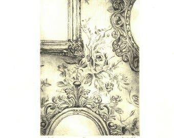 Victorian Intaglio Print