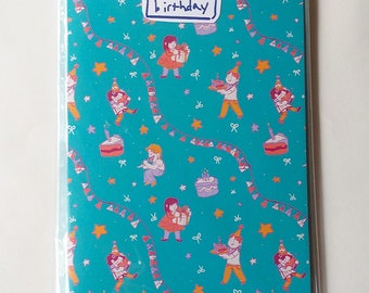 Cute Birthday Children's Greeting Card With Envelope