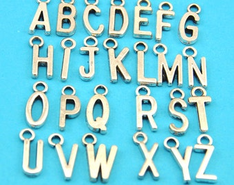 1sets of  26pcs Metal Letter Charms, Bead Landing, Metal alphabet letters, metal alpha letters, Hash necklace charm --G00110-1