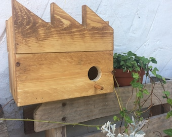 Birdhouse - Up-cycled oiled pallet wood