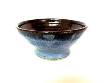 Vintage Blue Pottery Bowl