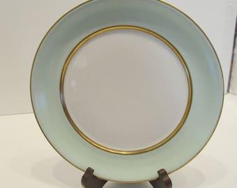 Vintage Pope Gosser Spring Dinner Plate - Waranteed Coin Gold