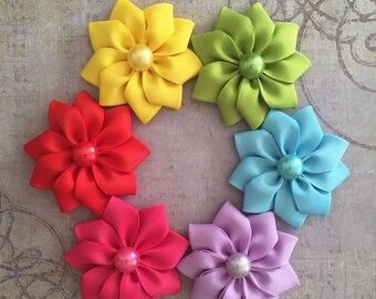 Ribbon flower etsy ribbon flowers grab bagribbon flowers 5 pcscrafting flowersbig ribbon flowerspick your colorflowers for craftingflowers for brooch mightylinksfo