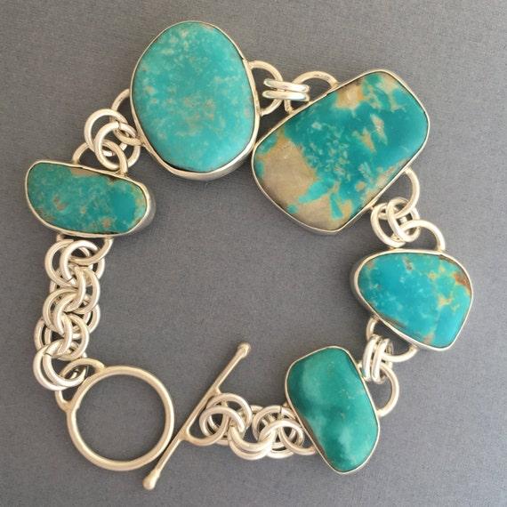 Handmade, sterling silver, Turquoise, bracelet