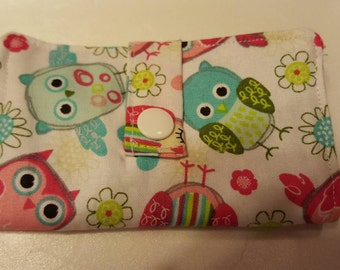 Handmade Credit card wallet. Or Holder for artifical sweetener.  Cotton fabric