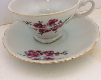 tea cups and saucers made in japan hand painted tea cups flower tea cups vintage tea cups