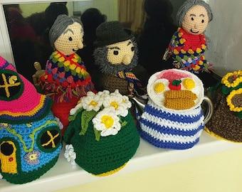 Woollyheads Unique Crochet Tea Cosies