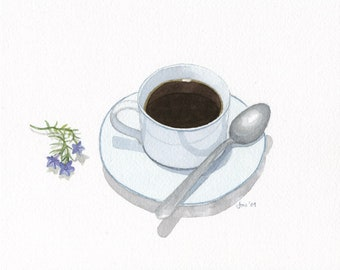 ORIGINAL Cup of Coffee - Watercolor Painting