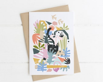 Catisse's Cat Garden Card