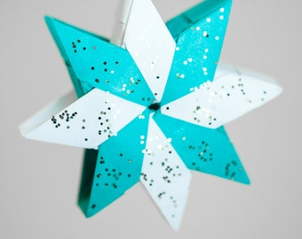 Snowflake Star Origami Ornaments