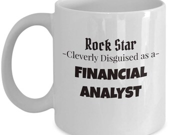 Financial Analyst Coffee Mug | Gift Tea Mug for Finance Analyst