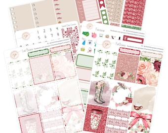 Planner Sticker Kits / Rain Romance / Planner Sticker / Erin Condren Planner Stickers / WK-7