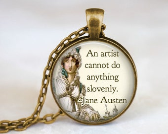 Jane Austen Quote Necklace • Jane Austen Jewelry • Bookish Gifts • Book Lover Gift • Literary Gifts