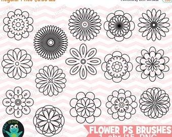 75% OFF SALE Photoshop Flower Brushes, Photoshop Flower Brush Set, Photoshop Brushes, Digital Photoshop Brushes - UZPSB856