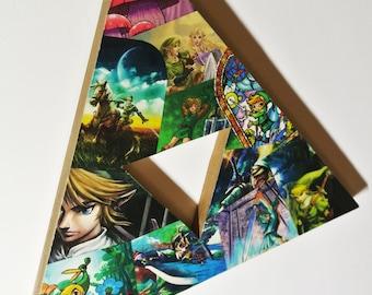 Legend Of Zelda Triforce Decor   Video Game Wall Art   Zelda Baby Shower  Gift