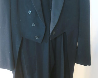 Black Tuxedo Jacket w Tails & Pants from 40's