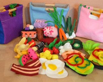 Felt Food Set for Play/ Ideal for Ikea Kitchen / Kids Toys / New Handmade / Ver2