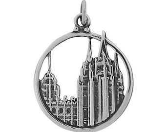 Salt Lake Temple Charm - silver OMT J33